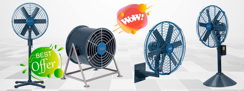los mejores Tipos de ventiladores industriales