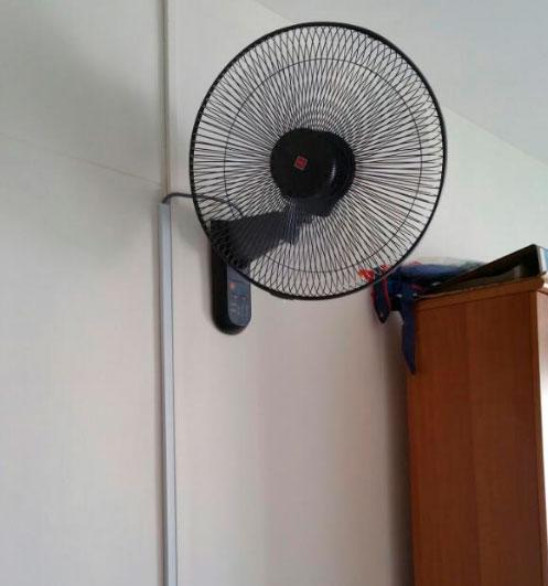 ventilador montado en muro