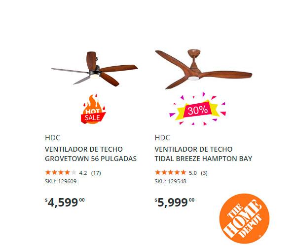 ofertas y precio de ventiladores en home depot