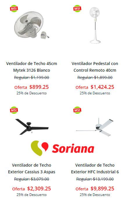 precio y ofertas en ventiladores de soriana