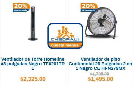 los mejores precios y ofertas en ventiladores Chedraui
