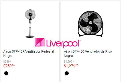 los mejores precios y ofertas en ventiladores liverpool