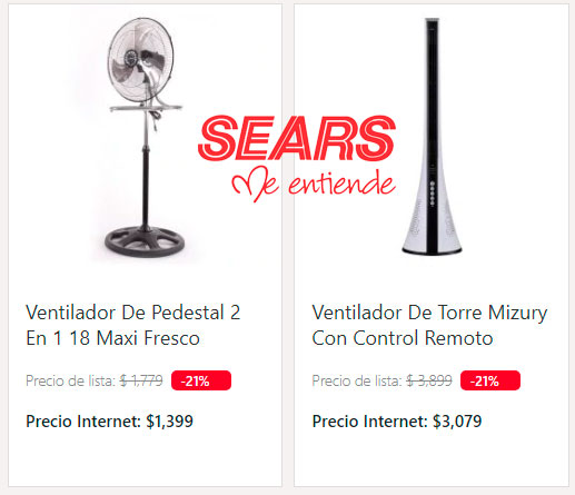 los mejores precios y ofertas en ventiladores sears